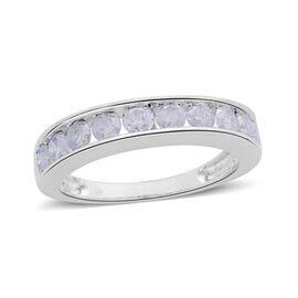 9K White Gold Diamond (Rnd) Half Eternity Ring 1.000 Ct.