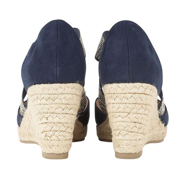 Lotus Navy Zade Wedge Sandals (Size 7)