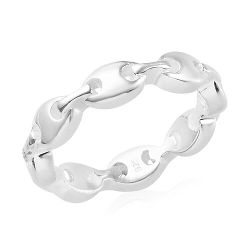 Mariner Link Band Ring in Sterling Silver
