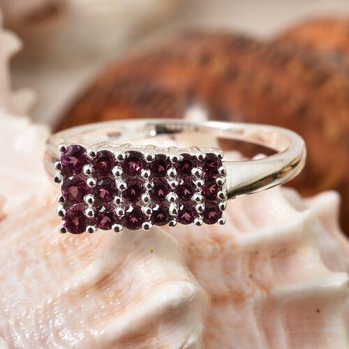 Rhodolite Garnet (Rnd) Ring in Sterling Silver 1.000 Ct.