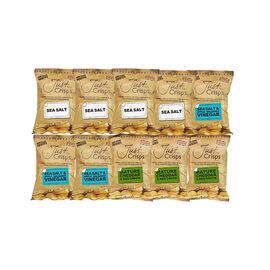 Just Crisps Variety Traditional 10x40g (4 x Sea Salt, 3 x Sea Salt and Apple Balsamic Vinegar, 3 x M