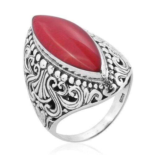 Royal Bali Collection Sponge Coral Ring in Sterling Silver 6.000 Ct. Silver wt 8.69 Gms.