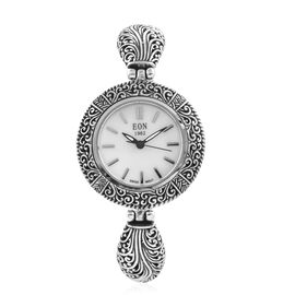 Royal Bali Collection EON 1962 Swiss Movement Sterling Silver Water Resistant Watch (Size 7.75 with