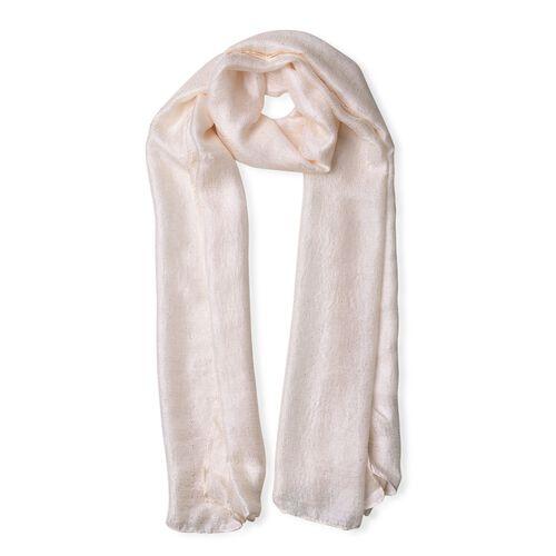 Micro - Cotton Blend Sparkle Scarf - White (Size 176X70 Cm)