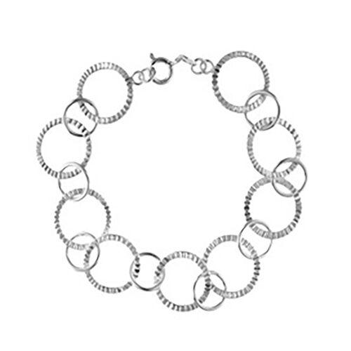 Link Bracelet in Sterling Silver 7.5 Inch