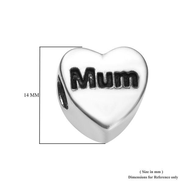 Charmes De Memoire Platinum Overlay Sterling Silver I Love You Heart Charm