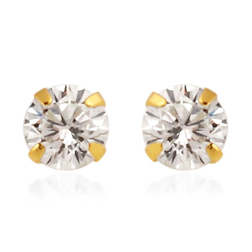 NY Close Out Deal- 9K Yellow Gold Cubic Zirconia Earrings