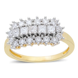 ILIANA 18K Yellow Gold IGI Certified Diamond (Rnd) (SI/G-H) Ring 1.010 Ct.