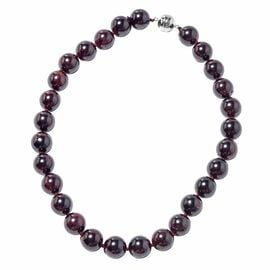 Collectors Edition- Extremely Rare Size AAA Mozambique Garnet (Rnd 16-18 mm) Necklace (Size 20) in S