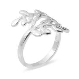 Sterling Silver Leaf Ring, Silver wt 3.57 Gms.