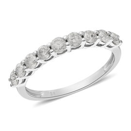 Limited Edition 9K White Gold SGL Certified Diamond (I3/G-H) Ring 1.000 Ct.