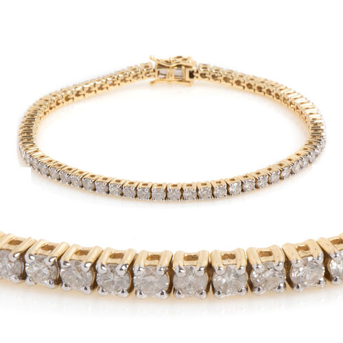New York Close Out 5 Carat Diamond Tennis Bracelet in 14K Gold 13 Grams I2 GH Size 7.25 Inch