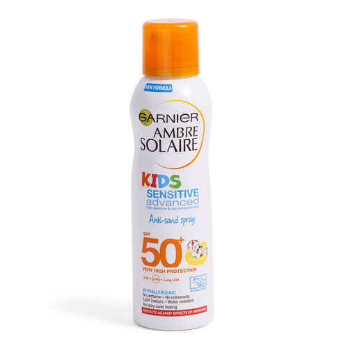Garnier: Ambre Solaire Kids Sensitive Advance Anti-Sand Spray SPF50 - 200ml