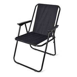 Picnic Portable and Folding Chair (Size 52x44x75cm) - Black