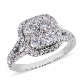 NY Close Out Deal- 14K White Gold Diamond (Rnd) (I1-I2/G-H) Ring 1.80 Ct.