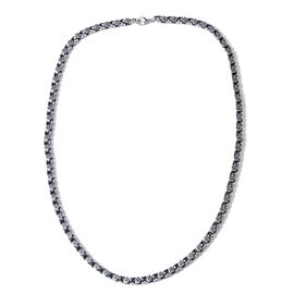Black Oxidised Stainless Steel Necklace (Size 24)