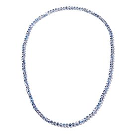Blue Magic Colour Roundel Beaded Necklace 20 Inch