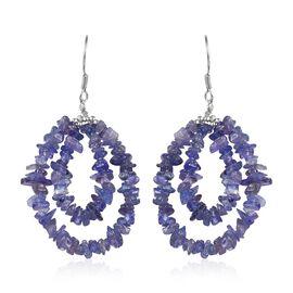 Tanzanite Hook Earrings in Sterling Silver 40.50 Ct.