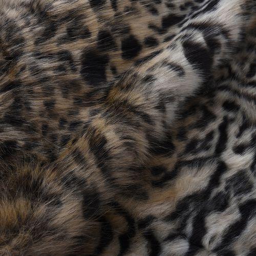 Most Luxurious Faux Fur Leopard Pattern Blanket (Size 200x150 cm)