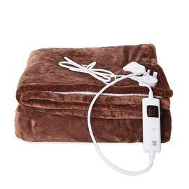 Doorbuster Deal-  Deluxe Home Collection- Luxury Heated Sherpa Blanket with Controller & Overheat Pr