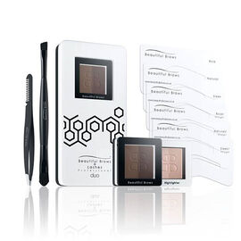 Beautiful Brows: Duo Brow Kit Dark Brown/Chocolate (With free Eyebrow Trimmer & Brow Refill)