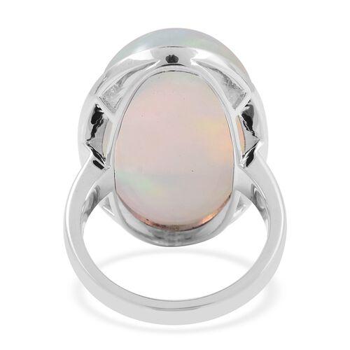 RHAPSODY 950 Platinum AAAAA Ethiopian Welo Opal (Ovl 26.4x16.7 mm)  Ring 22.250 Ct, Platinum wt 9.91 Gms.