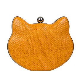 Bulaggi Collection - Cat Clutch Bag with Detachable Shoulder Chain (Size 17x12x03 Cm) - Ochre