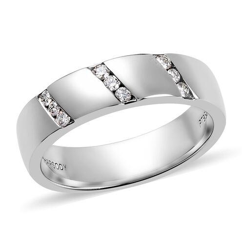RHAPSODY Diamond 4.6mm Heavy Band Ring in 950 Platinum 9.70 Grams IGI Certifed VS EF