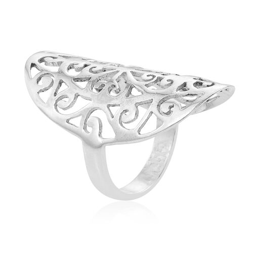Hand Made Sterling Silver Filgree Ring, Silver wt 4.54 Gms