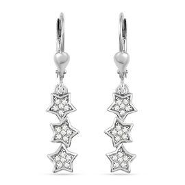 GP Celestial Dream Collection - Diamond and Kanchanaburi Blue Sapphire Lever Back Earrings in Platin