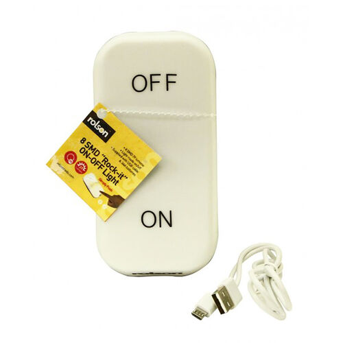 Rock - It Chargeable Night Light from Rolson (3 AA Batteries Included)