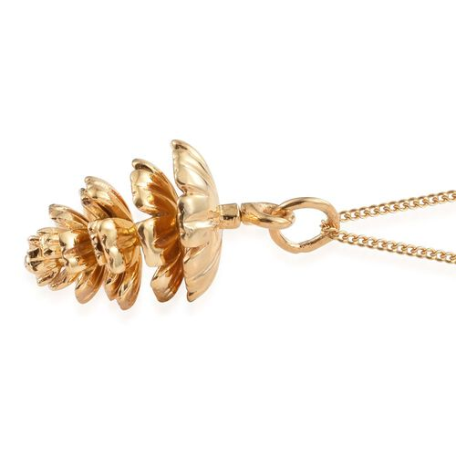 Pinecone Silver Pendant with Chain in Gold Overlay, Silver wt 4.32 Gms.