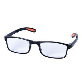 Foldable Blue Light Blocking Glasses with Testing Kit (+2.50 Focus) (Size 14x14x3Cm) - Black
