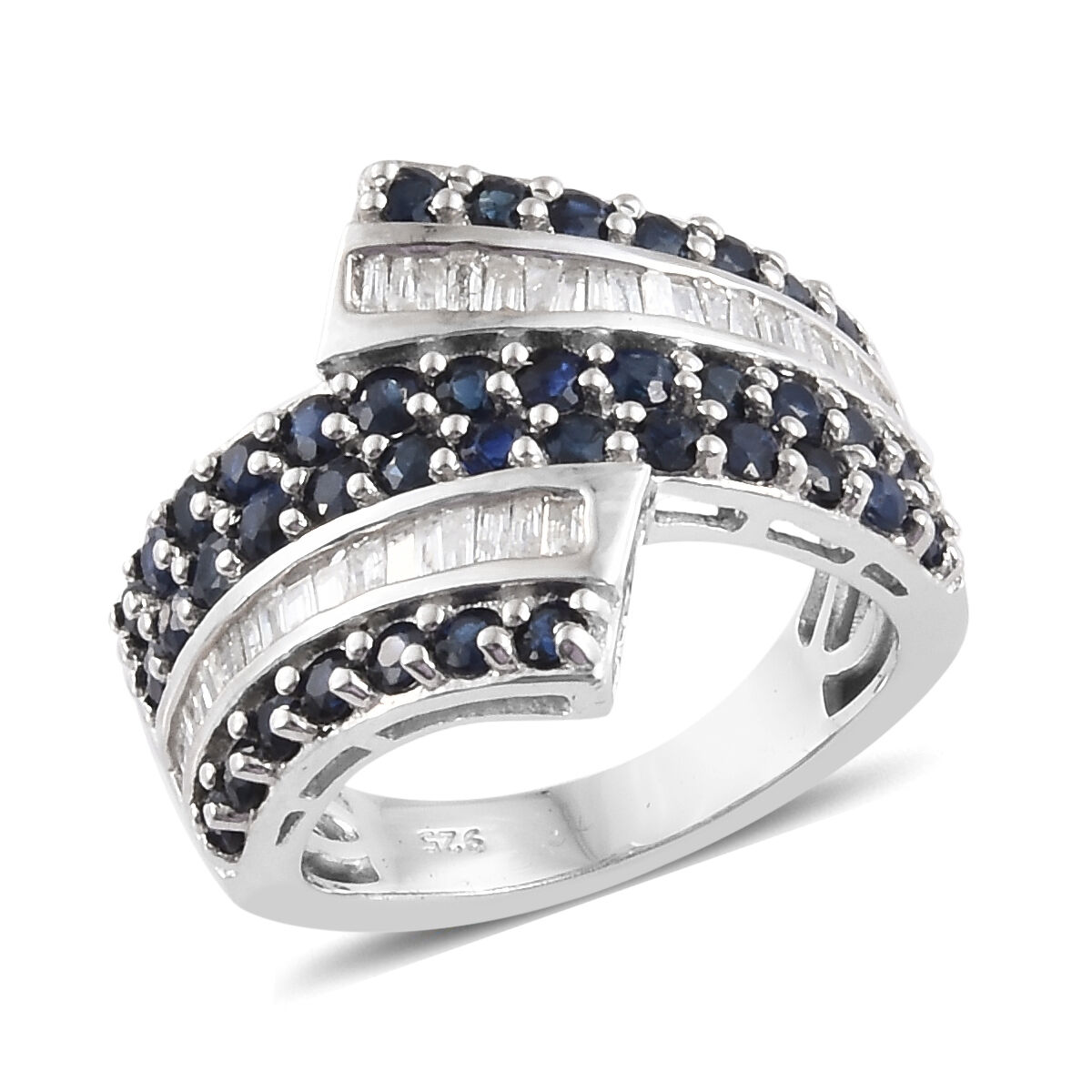 4.48 Ct Black Sapphire Blue Tanzanite 18K Yellow Gold Plated Silver Men/'s Ring