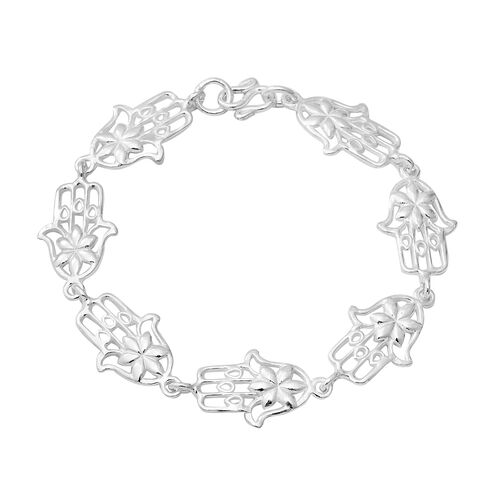 Floral Bracelet in Sterling Silver 10.99 Grams 7.25 Inch