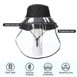Bucket Protection Hat with Detachable Safety Protective Face Eye Shield Screen (Perimeter: 57Cm) - C