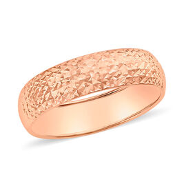 Diamond Cut Band Ring in 9K Rose Gold
