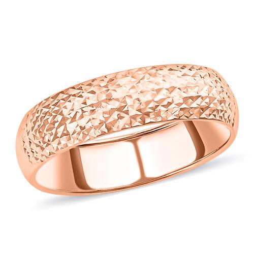 Diamond Cut Band Ring in 9K Rose Gold