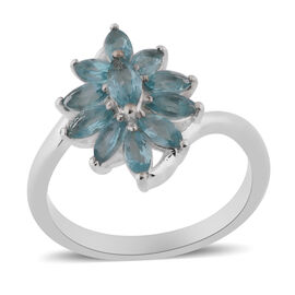 One Time Deal- Paraibe Apatite (Mrq) Ring in Sterling Silver