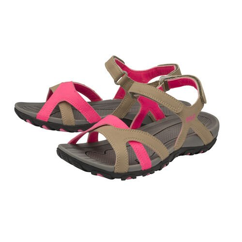 Gola Cedar Walking Sandal (Size 3) - Taupe/Hot Pink