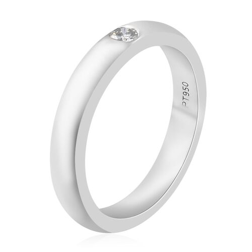 RHAPSODY 950 Platinum IGI Certified Diamond (Rnd) (VS/E-F) Band Ring.Platinum wt 7.00 Gms