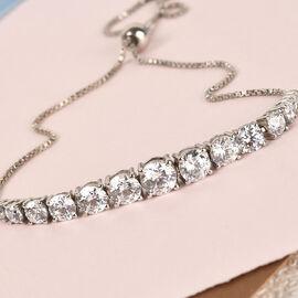 Swarovski Zirconia Bracelet in Platinum Overlay Sterling Silver 4.53 ct,  Sliver Wt. 6 Gms  4.527  Ct.
