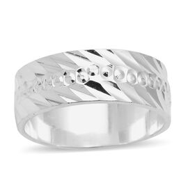 Desgner Inspired- High Polished Sterling Silver Band Ring, Silver wt 3.50 Gms.