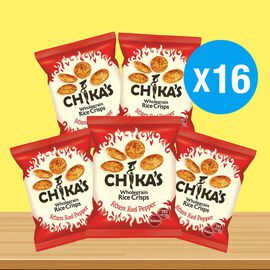CHIKAS Roast Red Pepper Rice Crisps, 16 x 25g