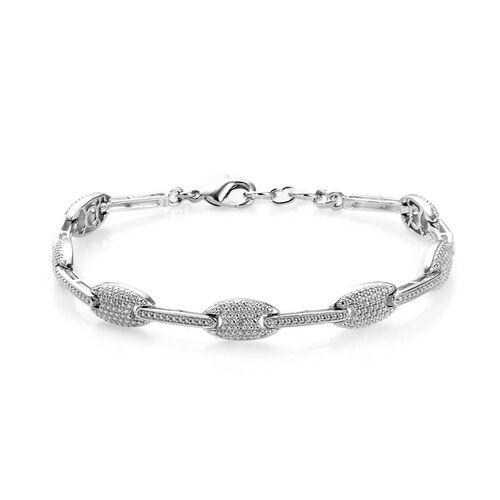Diamond Link Bracelet in Brass 7.5 Inch