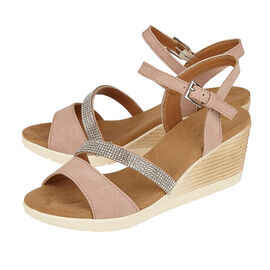 Lotus Lilou Wedge Sandals in Pink Colour