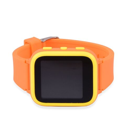 SMART Watch for Kids Supported by Free App. (with GPS Tracking, Calling, Texting, e- Fencing, Contact Book Features) - Colour Orange