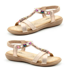 Heavenly Feet Amber Rose Gold Sandals