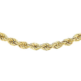 Close Out Deal Rope Chain Necklace in 9K Yellow Gold 5.15 Grams 20 Inch