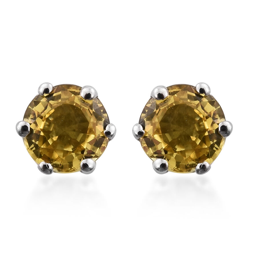 florid studs fancy earrings in fascinating yg yellow set gold stud earring flower with prong nl blue sapphire round jewelry